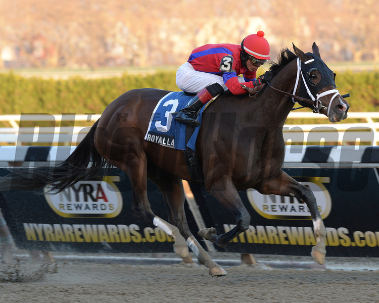 Royal Lahaina wins the 2013 Go for Wand Handicap.<br /> Coglianese Photos