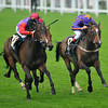 Estimate, Ryan Moore up, wins the Gold Cup , Royal Ascot; UK, photo by Mathea Kelley; 6/20/13