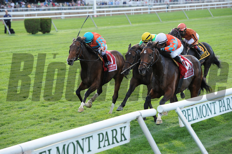 Laughing wins the 2013 Flower Bowl.<br /> Coglianese Photos