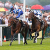 Racing from Ascot 19/6/13. The Prince of Wales's Stks.<br /> Al Kazeem (right) wins from Mukhadram (left)<br /> Trevor Jones Photo