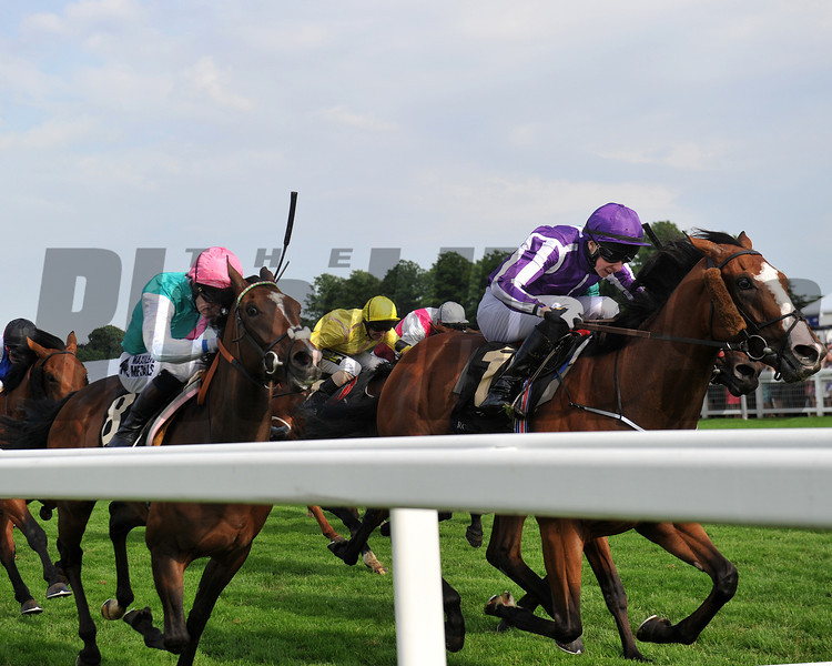 Royal Ascot; UK, photo by Mathea Kelley 6/21/13<br /> Leading Light running at Royal Ascot in the Queen's Vase.
