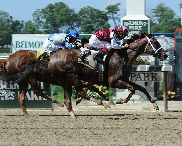 Villanesca wins the 2013 Magnolia Jackson Stakes.<br /> Coglianese Photos
