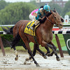 Calidoscopio wins the 2013 Brooklyn Handicap.<br /> Coglianese Photos/Courtney Heeney