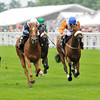 Duntle, WM Lordan up, wins the Duke of Cambridge Stakes, Royal Ascot; photo by Mathea Kelley 6/19/13;