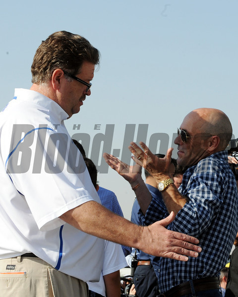 Dale Romans and Gary Stevens<br /> Dubai, March 28, 2013<br /> Dave Harmon Photo
