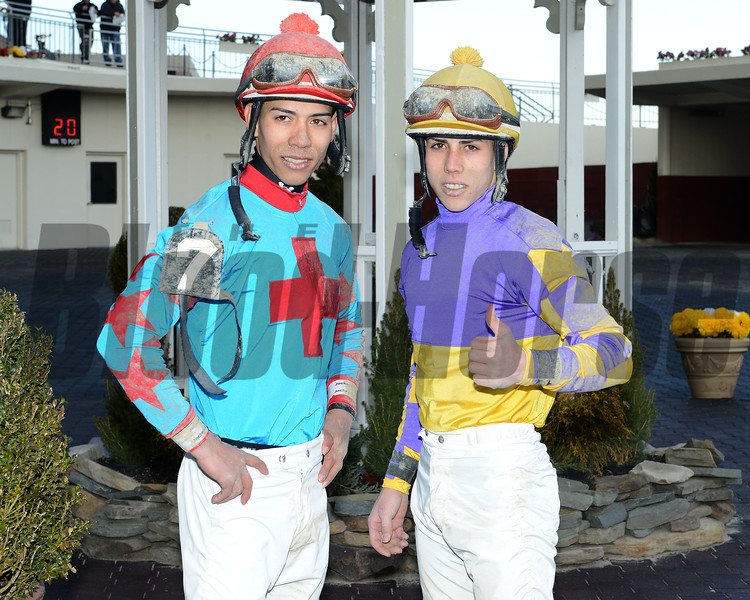 Jose and Irad Jr. Ortiz<br /> Photo by: Adam Mooshian / NYRA