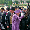 Racing from Royal Ascot 20/6/13. The Ascot Gold Cup .<br /> The Queen with  Estimate after winning The Ascot Gold Cup with jockey Ryan Moore<br /> Trevor Jones Photo