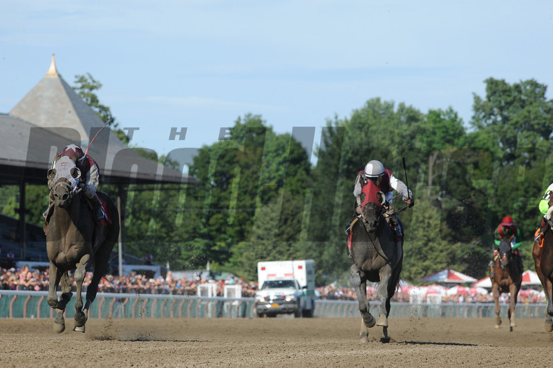 Romansh (right) wins the Curlin Stakes via Disqualification.<br /> Coglianese Photos