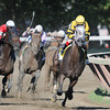Cross Traffic wins the 2013 Whitney.<br /> Coglianese Photos/Adele Bellinger