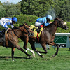 Assateague wins the 2013 De La Rose Stakes.<br /> Coglianese Photos
