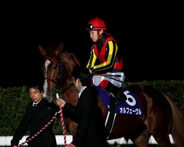 Orfevre wins the Arima Kinen in Japan.<br /> Masakazu Takahashi