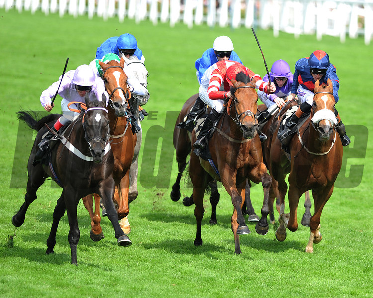 Forgotten Voice, Johnny Murtagh up, wins the WOlferton Handicap Stakes Royal Ascot; UK, photo by Mathea Kelley; 6/21/13