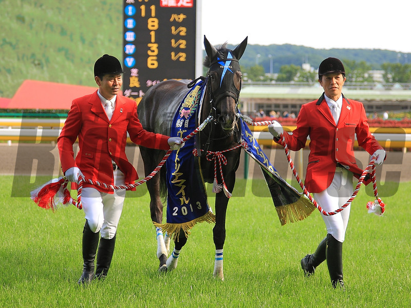 Verxina wins the Victoria Mile in Japan.<br /> Photo by Naoji Inada.