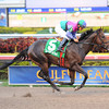 Itsmyluckyday wins the 2012 Gulfstream Park Derby.<br /> Coglianese Photos/Leslie Martin