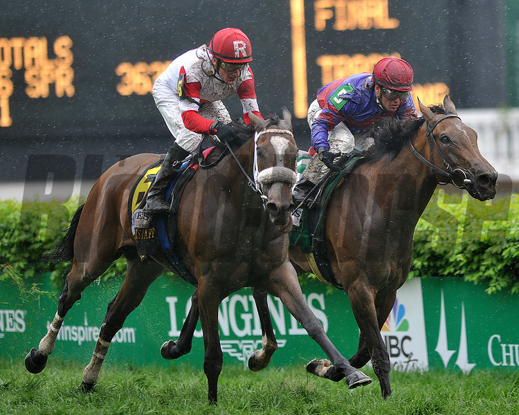 Stephanies Kitten, Julien Leparoux up, wins the Churchill Distaff Mile, 2013 Churchill Downs, Louisville, KY photo by Mathea Kelley