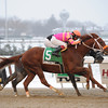 Jonesy Boy wins the 2013 Queens County Stakes.<br /> Coglianese Photos
