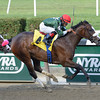 Tea Time wins the 2013 Sharp Cat Stakes.<br /> Coglianese Photos