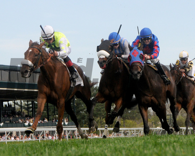 Unbelievable Dream, Joel Rosario Up; wins the Appalachian Stakes, Keeneland Race Track; <br /> ©Photo by Mathea Kelley 4/18/13