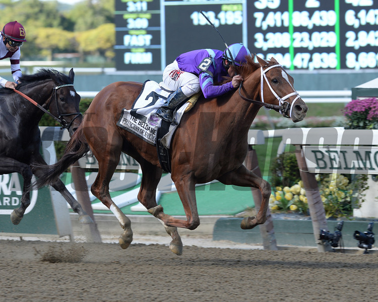 Princess of Sylmar wins the 2013 Beldame.<br /> Coglianese Photos/David Alcosser