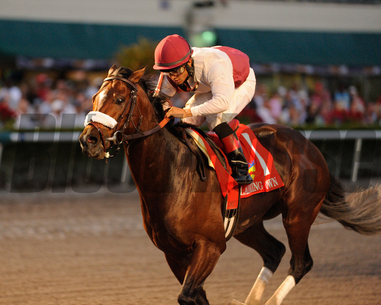 Nevada Kid wins the 2013 Claiming Crown Jewel.<br /> Coglianese Photos
