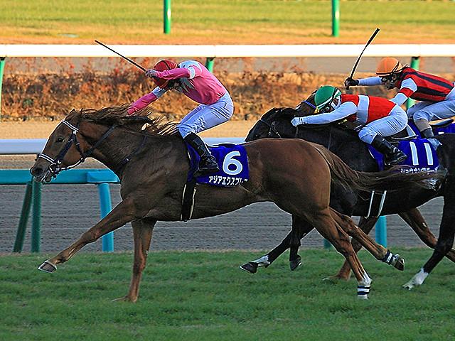 Asia Express wins the Asahi Hai Futurity Stakes<br /> Naoji Inada Photo