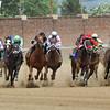 So Many Ways, Garrett Gomez up, wins the Eight Bells Stakes, Final Turn, 2013 Churchill Downs, Louisville, KY photo by Mathea Kelley