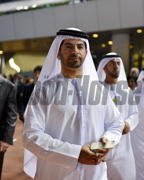 Trainer Saeed Bin Suoor , Meydan, March 30th, 2013, photo by Mathea Kelley<br /> Dubai World Cup Day