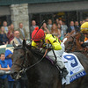 Silver Max, Robby Albarado up wins the Shadwell Turf Mile, Keeneland Race Course, Lexington, KY, 10/5/13, photo by Mathea Kelley;