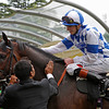 Racing from Ascot 19/6/13. The Prince of Wales's Stks.<br /> Winner Al Kazeem and Jockey James Doyle<br /> Trevor Jones Photo