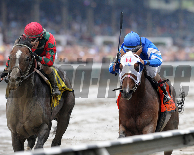 Alpha wins the 2013 Woodward. <br /> Coglianese Photos/Adam Mooshian