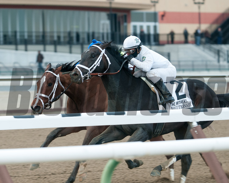 Revolutionary wins the 2013 Withers.<br /> Coglianese Photos/Susie Raisher