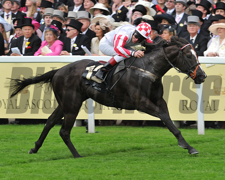 Sole Power, Johnny Murtagh up, wins the King Stand Stakes, Royal Ascot; UK, photo by Mathea Kelley;