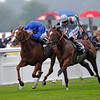 Racing from Ascot 18/6/13, St James Palace Stakes.<br /> Dawn Approach (left) wins from Toronado (right).<br /> Photo by Trevor Jones