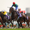 Tosen Ra wins the Mile Championship at Kyoto Racecourse, Japan.<br /> Masakazu Takahashi