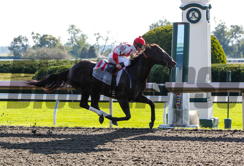 "Sum of the Parts with Leandro Goncalves aboard wins the 161st Running of The Stoll Keenon Ogden Phoenix (Grade III) ""Win and You're In Sprint Division"" at Keeneland, Lexington, Ky. on October 4, 2013.<br /> Mark Mahan Photo"