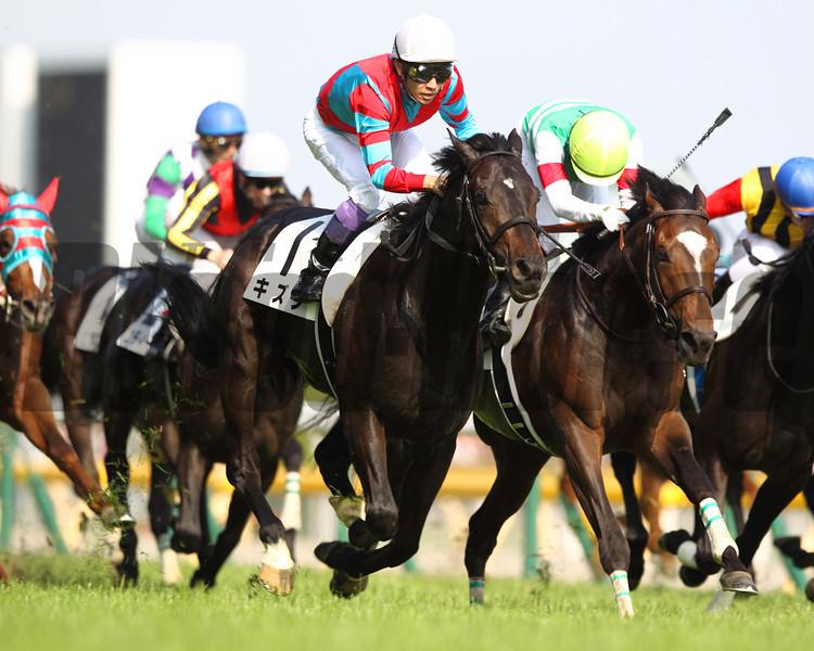 Kizuna wins the Tokyo Yushun (Japanese Derby). <br /> Masakazu Takahashi Photo