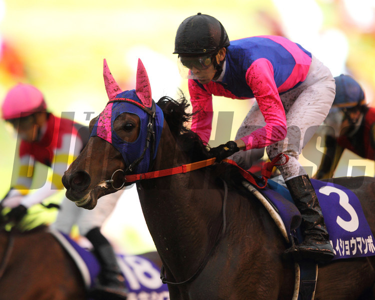 Meisho Mambo wins the QE II.<br /> Photo by Masakazu Takahashi