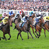 Annecdote, Richard Kingscote up, wins the Sandringham Handicap Stakes, Royal Ascot; UK, photo by Mathea Kelley; 6/19/13