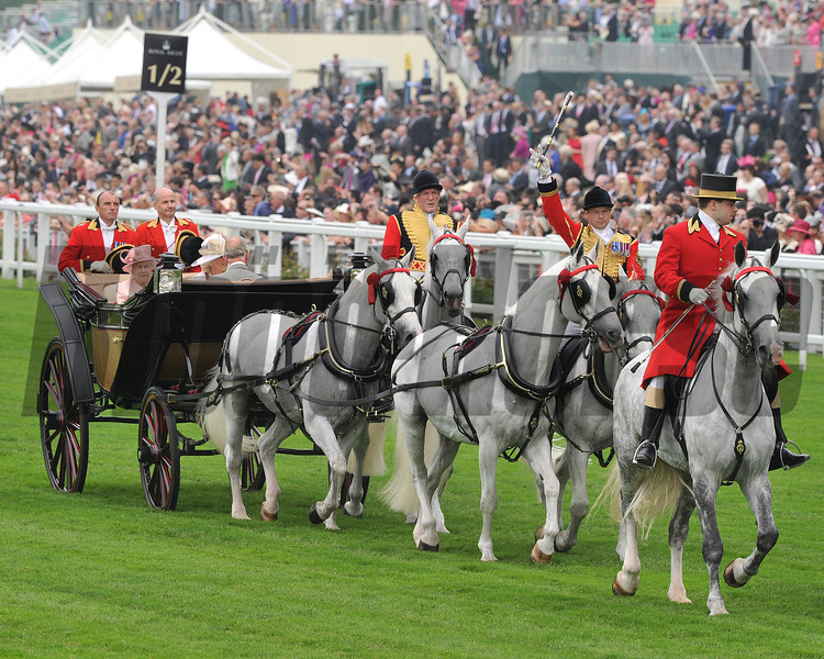 The Queen, Royal Ascot; UK, photo by Mathea Kelley