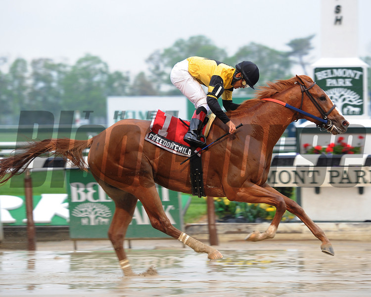 Freedom Child wins the 2013 Peter Pan.<br /> Coglianese Photos/Chelsea Durand