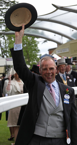 Racing from Ascot 22/6/13 The Diamond Jubilee Stakes. Clive Cox trainer of  Lethal Force<br /> Trevor Jones Photo