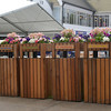 Royal Ascot; UK, photo by Mathea Kelley 6/21/13, Even the trash and recyle bins are pretty at Ascot