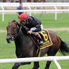 Boisterous wins the 2013 Man o' War.<br /> Coglianese Photos/Adam Mooshian
