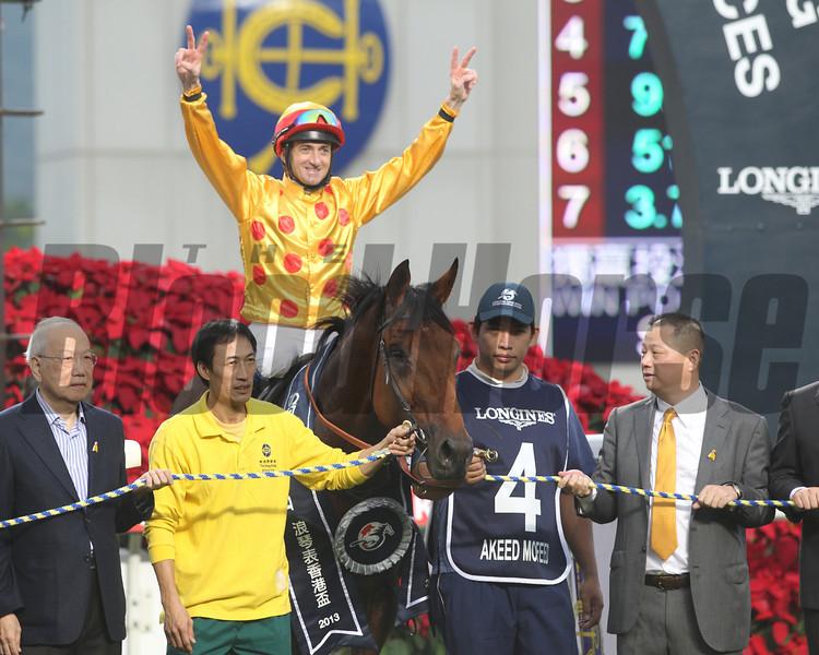 Akeed Mofeed wins the Hong Kong Cup.<br /> Masakazu Takahashi Photo