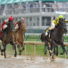 Aubby K, Edgar Prado up, wins the Humana Distaff, 2013 Churchill Downs, Louisville, KY photo by Mathea Kelley