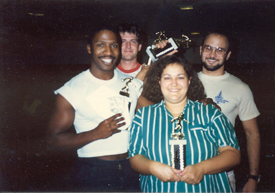 1985,Keith, Steve, Cindy and Larry. 2nd Place Bowling Team, Gandalf Data