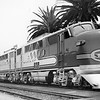 AT&SF 164LABC EMD FT at San Diego.<br /> <br /> Photographer Stan Kistler<br /> Jeffrey J Moreau Collection<br /> Catalog Number 00011043