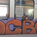 Graffiti sur un train à Athènes