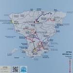 Carte de Aégine près de La Pirée