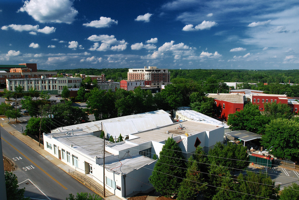 View looking northeast from the North Campus Parking Deck, Athens, GA (Clarke County) June 2008